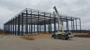 Construction d'un entrepôt de stockage